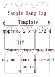 template parking hang tag template