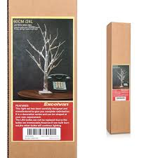 Lighted Twigs Home Decorating Excelvan 0 6m 2 0ft 24 Leds Battery Operated Desk Top Silver Birch