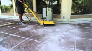 staining old concrete patio removing paint from concrete patio youtube