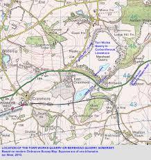 Somerset England Map Mendip Hills Geology By Ian West