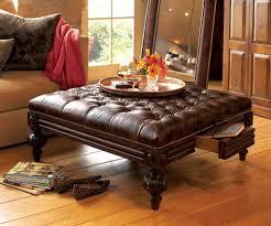 coffee tables breathtaking dark brown round modern leather