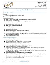 Invoicing Specialist Job Description by Accounts Payable Specialist Resume Example Accounts Payable