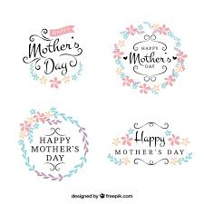 mothers day stickers pretty floral day stickers vector free