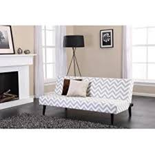 Dhp Kinsley Gray White Chevron Futon 2013809 The Home Depot