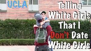 Black Man White Woman Meme - telling white girls that i don t date white girls at ucla social