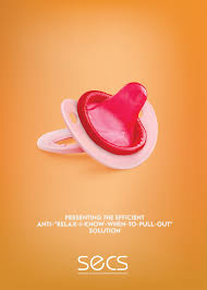 Print Advertisement Idea Design And Contraception Education Society Baby Pacifier Ads Of