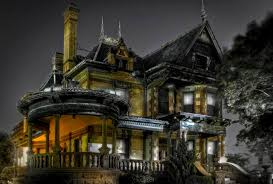 spooky desktop wallpaper houses residential spirits eerie spooky lights scary victorian
