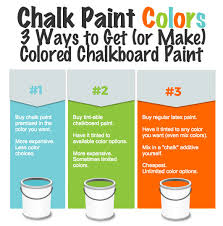 diy chalkboard paint colors easy way to make any color