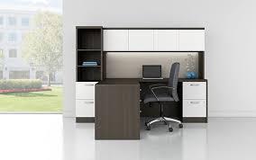 modern desk with storage workstation desk wooden contemporary commercial modern