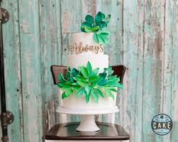 wedding cake greenery cake by calgary wedding and engagement cakes
