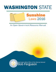 open government resource manual washington state