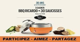 ricardo cuisine concours concours gagnez un barbecue portable de marque ricardo concours