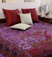 online bed shopping online shopping india cotton double bed sheets purple color tie