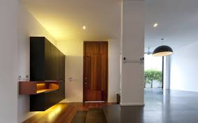 entrance front door hall lighting modern home in kuala lumpur