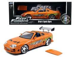 toyota official store amazon com new 1 18 fast u0026 furious 7 orange brian u0027s toyota