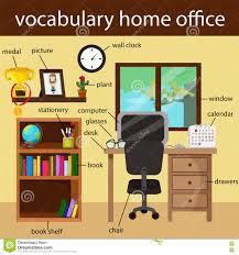 illustrator of vocabulary home office stock vector image 78960767
