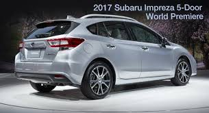 2016 subaru impreza hatchback moment of truth 2017 subaru impreza production vs concept