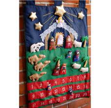 nativity advent calendar christmas decorations appliquéd cloth nativity advent calendar