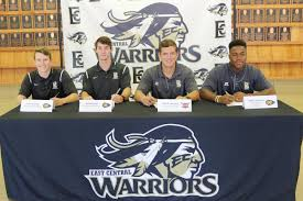 College Baseball Letter Of Intent by Eccc Warrior Baseball Players Sign To Play At Four Year Colleges