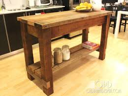 Rough cut cedar kitchen island My dad made one like this for my