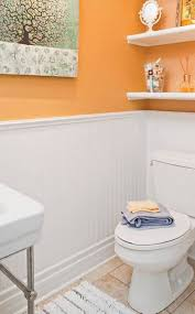 orange and gray bathroom ideas