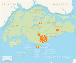 Singapore Map Asia by Map Of Singapore Singapore Regions Rough Guides