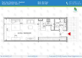 park view st regis in saadiyat island abu dhabi floor plans of park view studio