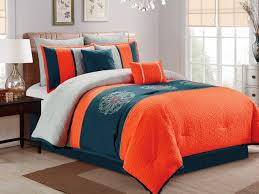 Colorful Queen Comforter Sets Orange Comforters Polyester Sears