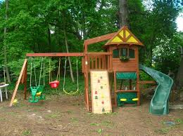 Wooden Backyard Playsets Backyard Swing Sets Reviews Backyard