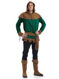 Robin Halloween Costume Men Robin Hood Fancy Dress Medieval Costume Extra Large Unit