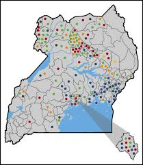 Map Of Uganda Hemoglobin Variants Identified In The Uganda Sickle Surveillance