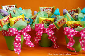 candy basket ideas easter bouquet pink polka dot creations