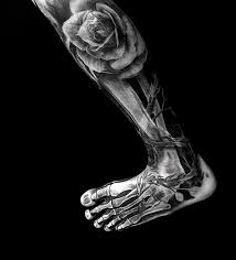 rose tattoo best skeleton foot design lava360