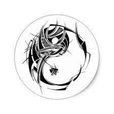 tribal yin yang stickers zazzle