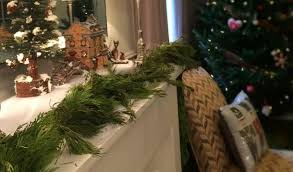 the no tears way to decorate using real cedar garland