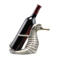 amazon com seahorse wine bottle holder tabletop wine racks