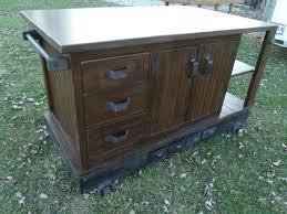 iron kitchen island industrial style dark walnut and tungsten kitchen island cart with