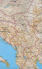 Balkans Map Large Political Map Of North Balkans With Relief Serbia Europe