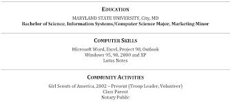 Resume Activities Section Education Section On Resume Cbshow Co