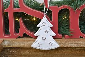 white metal hanging tree decoration chicy rachael