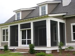 fascinating white framed screened in porch for house designs using