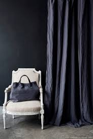 Black Linen Curtains Black Washed Linen Curtain Naturalcurtaincompany Decor And