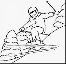 astonishing winter sports coloring pages with winter coloring page