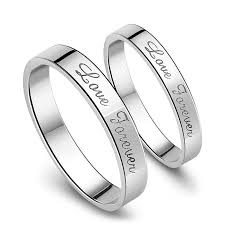 engraved wedding rings forever engraved promise rings for couples personalized flat