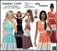 Fashion Nexus A Fashion Blog by Casual Long Dresses Sims 4 Nexus