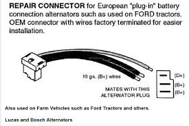 lucas alternator ford new holland tractor wiring diagram ford