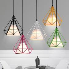 Pendant Light With Shade by Pagoda Colored Metal Framework Pendant Light With White Fabric
