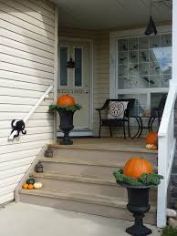 exterior ideas of fall outdoor decorating from halloween to