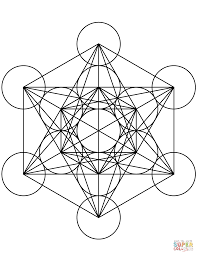 metatron u0027s cube mandala coloring page free printable coloring pages
