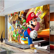 mario bedroom custom large photo wallpaper super mario wall mural classic games